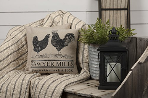 VHC Brands Farmhouse Pillows Throws Sawyer Mill 12x 12 One Size Rooster Poultry 0 0