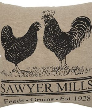 VHC Brands Farmhouse Pillows Throws Sawyer Mill 12x 12 One Size Rooster Poultry 0 300x360