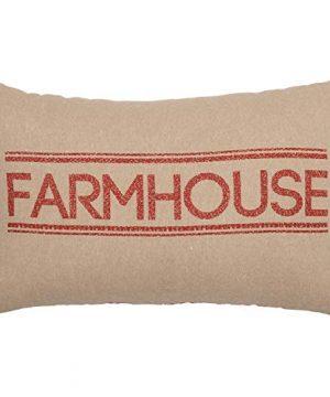 VHC Brands Sawyer Mill Red Farmhouse Pillow 14 X 22 0 300x360