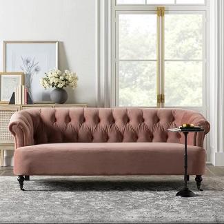 Velvet 81 Rolled Arm Sofa