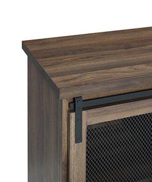 WE Furniture Industrial Farmhouse Buffet Entryway Bar Cabinet Storage 32 Inch Walnut Brown 0 1 300x360