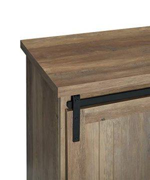 WE Furniture Modern Farmhouse Buffet Entryway Bar Cabinet Storage 32 Inch Brown Reclaimed Barnwood 0 1 300x360