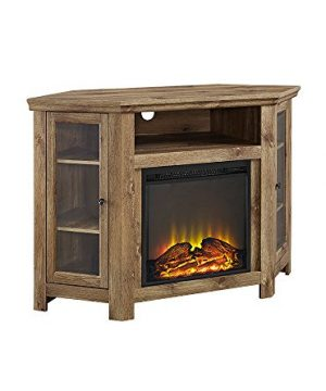 Walker Edison 48 Corner Fireplace TV Stand In Barnwood 0 300x360