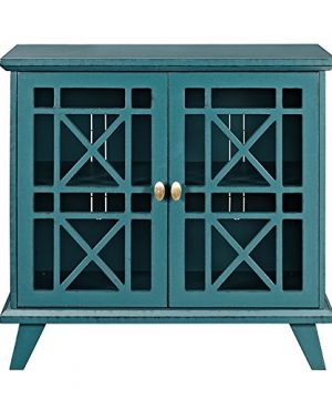 Walker Edison Furniture Company Wood Accent Buffet Sideboard Serving Storage Cabinet With Doors Entryway Kitchen Dining Console Living Room 32 Inch Blue 0 0 300x360