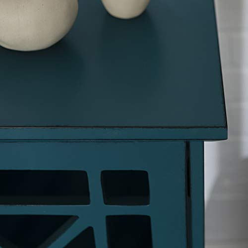 Walker Edison Furniture Company Wood Accent Buffet Sideboard Serving Storage Cabinet With Doors Entryway Kitchen Dining Console Living Room 32 Inch Blue 0 1