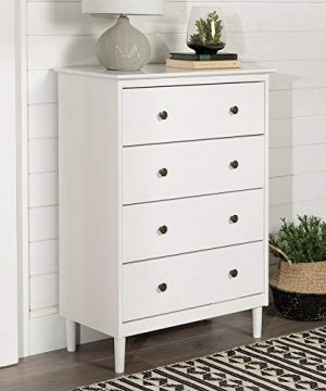 Walker Edison Tall Wood Dresser Bedroom Storage Drawer Organizer Closet Hallway 4 White 0 300x360