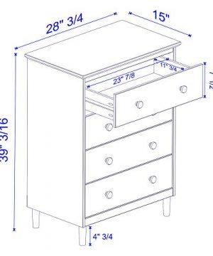 Walker Edison Tall Wood Dresser Bedroom Storage Drawer Organizer Closet Hallway 4 White 0 4 300x360