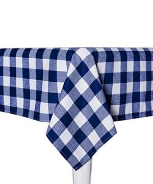 Wemay Cotton Buffalo Check Plaid Square Tablecloth For Family Dinners Or Gatherings Indoor Or Outdoor Parties Everyday Use 54 Inch X 54 InchSeats 4 People Blue White 0 0 300x360