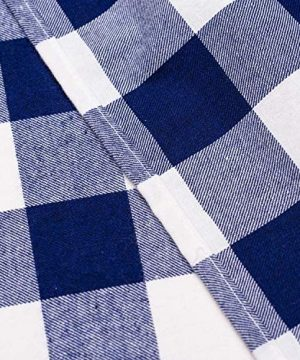 Wemay Cotton Buffalo Check Plaid Square Tablecloth For Family Dinners Or Gatherings Indoor Or Outdoor Parties Everyday Use 54 Inch X 54 InchSeats 4 People Blue White 0 1 300x360