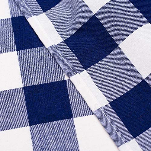 Wemay Cotton Buffalo Check Plaid Square Tablecloth For Family Dinners Or Gatherings Indoor Or Outdoor Parties Everyday Use 54 Inch X 54 InchSeats 4 People Blue White 0 1