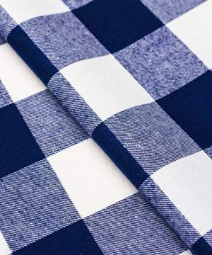 Wemay Cotton Buffalo Check Plaid Square Tablecloth For Family Dinners Or Gatherings Indoor Or Outdoor Parties Everyday Use 54 Inch X 54 InchSeats 4 People Blue White 0 2 300x360