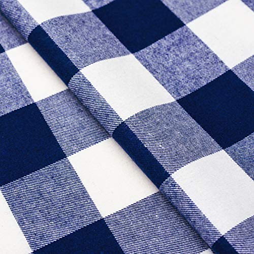 Wemay Cotton Buffalo Check Plaid Square Tablecloth For Family Dinners Or Gatherings Indoor Or Outdoor Parties Everyday Use 54 Inch X 54 InchSeats 4 People Blue White 0 2