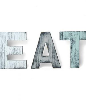 YoleShy EAT Sign Kitchen Wall Decor Rustic Color Farmhouse Decor Wood Wall Plaque With Hanging Hole 0 300x360