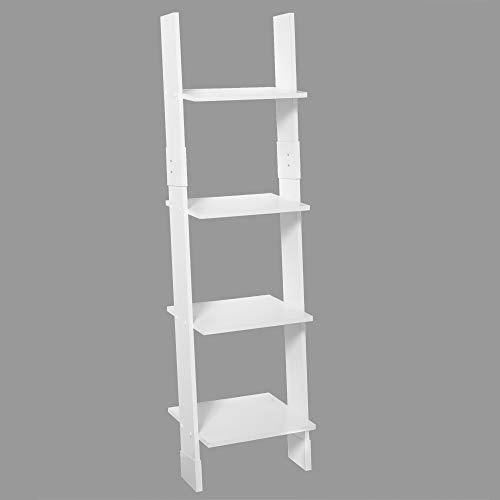 Zenna Home Ladder Style Bathroom Linen Tower, White - Farmhouse Goals