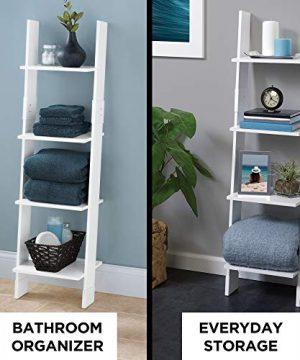 Zenna Home Ladder Style Bathroom Linen Tower White 0 300x360