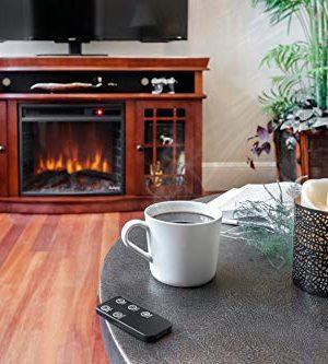 E Flame USA Jackson Electric Fireplace Stove TV Stand 60x33 Warm Cherry Finish 0 3 300x333