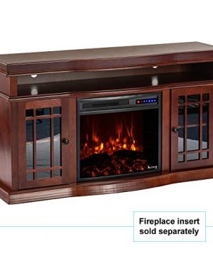 E Flame USA Jackson Electric Fireplace Stove TV Stand 60x33 Warm Cherry Finish 0 300x360