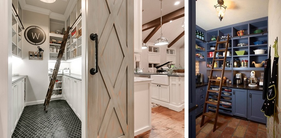 farmhouse themed pantry