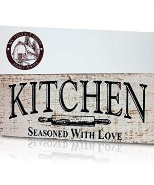MyVintageFinds Kitchen Sign Rustic Kitchen Decor Farmhouse Wall Decor Made In America Kitchen Sign Wall Decor And Decorations 0 300x360