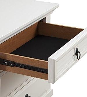 Alpine Furniture Winchester Nightstand 28 W X 17 D X 28 H White 0 2 300x333