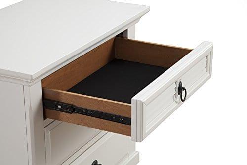 Alpine Furniture Winchester Nightstand 28 W X 17 D X 28 H White 0 2