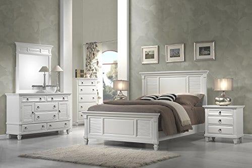 Alpine Furniture Winchester Nightstand 28 W X 17 D X 28 H White 0 3