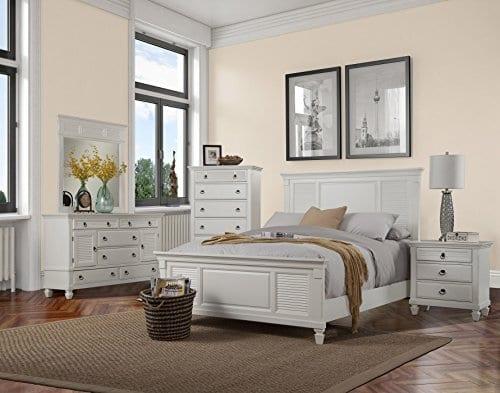 Alpine Furniture Winchester Nightstand 28 W X 17 D X 28 H White 0 4