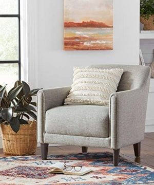 Amazon Brand Stone Beam Grover Modern Living Room Accent Chair 30W Grey 0 3 300x360
