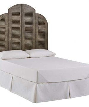 Amazon Brand Stone Beam Lyla Rustic Slat Bed Headboard Queen 64 Inch China Gray 0 300x360