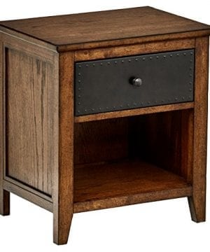 Amazon Brand Stone Beam Newport Nightstand End Table 22W Toffee Oak 0 300x360