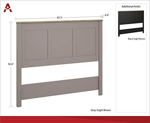 Ameriwood Home Carver Headboard Queen Gray 0 2