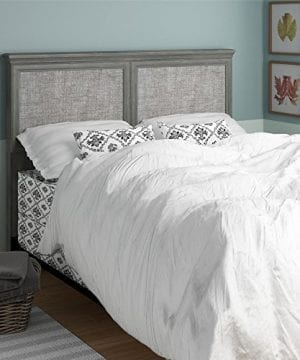Ameriwood Home Stone River FullQueen Headboard With Fabric Inserts Weathered Oak 0 0 300x360