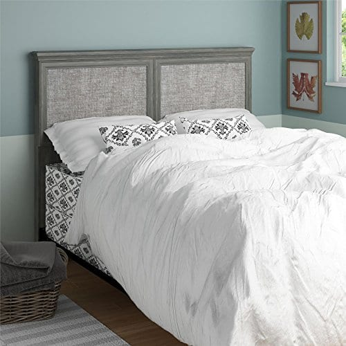 Ameriwood Home Stone River FullQueen Headboard With Fabric Inserts Weathered Oak 0 0