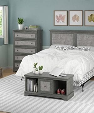 Ameriwood Home Stone River FullQueen Headboard With Fabric Inserts Weathered Oak 0 1 300x360