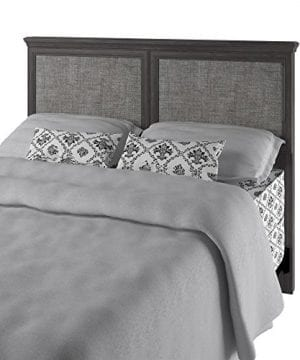 Ameriwood Home Stone River FullQueen Headboard With Fabric Inserts Weathered Oak 0 2 300x360