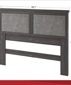 Ameriwood Home Stone River FullQueen Headboard With Fabric Inserts Weathered Oak 0 3 300x360