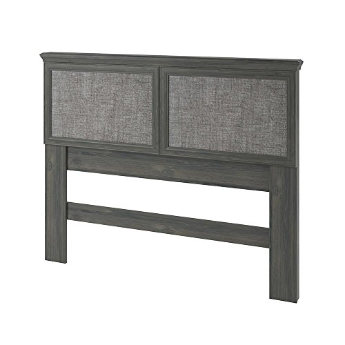 Ameriwood Home Stone River FullQueen Headboard With Fabric Inserts Weathered Oak 0