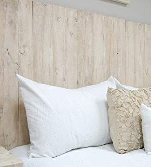 Antique White Headboard Full Size Weathered Hanger Style Handcrafted Mounts On Wall Easy Installation 0 0 300x332