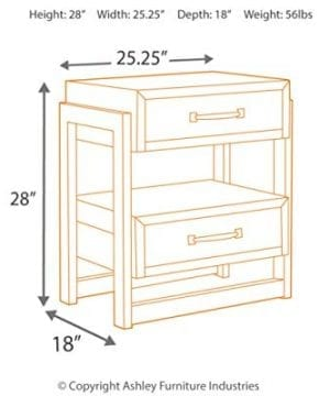 Ashley Furniture Signature Design Sommerford Nightstand Brown 0 1 300x360