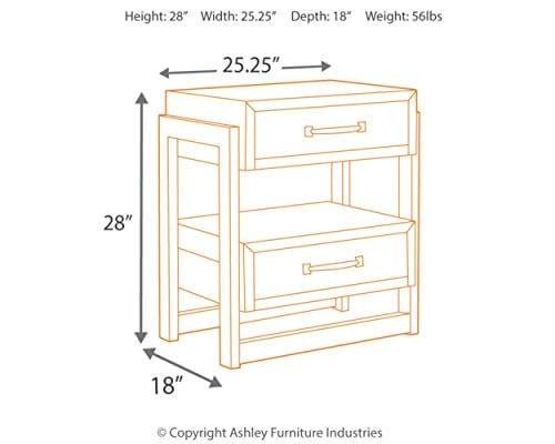 Ashley Furniture Signature Design Sommerford Nightstand Brown 0 1
