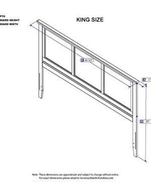 Atlantic Furniture Madison Headboard King Walnut 0 1 300x360