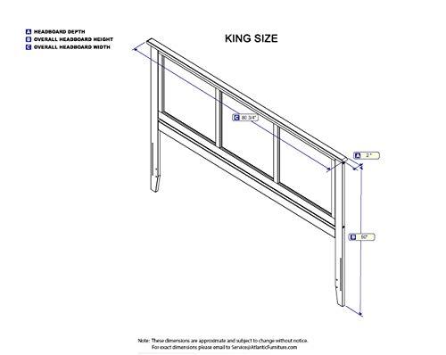 Atlantic Furniture Madison Headboard King Walnut 0 1