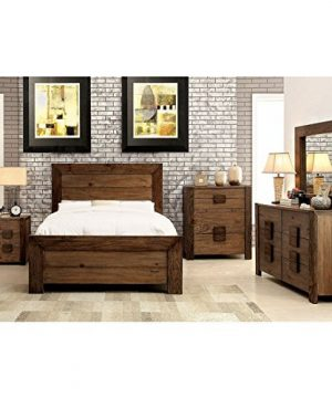 Aveiro Transitional Style Rustic Natural Tone Finish King Size 6 Piece Bedroom Set 0 300x360