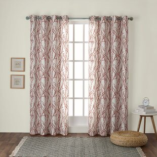 Baillons Floral Semi Sheer Grommet Curtain Panels 28Set Of 2 29
