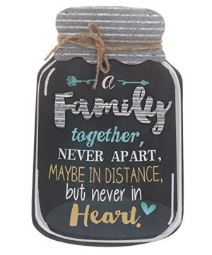 Barnyard Designs Rustic Family Together Never Apart Mason Jar Decorative Wood And Metal Wall Sign Vintage Country Decor 14x 9 0 300x360