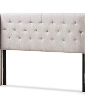 Baxton Studio Ally King Winged Panel Headboard In Grayish Beige 0 300x360