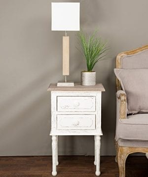 Baxton Studio Anjou Traditional French Accent Nightstand Medium White 0 300x360