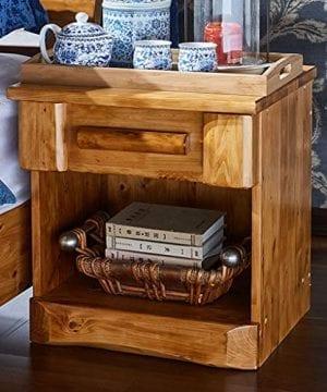 Bedside Table Dressing Table Solid Wood Drawer Storage Bedroom Side Cabinet Color Wood Color Size 454248cm 0 0 300x360