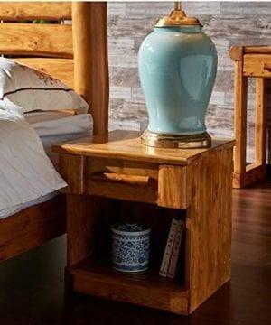 Bedside Table Dressing Table Solid Wood Drawer Storage Bedroom Side Cabinet Color Wood Color Size 454248cm 0 1 300x360