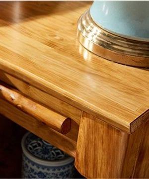 Bedside Table Dressing Table Solid Wood Drawer Storage Bedroom Side Cabinet Color Wood Color Size 454248cm 0 2 300x360
